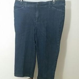 Liz Claiborne Jeans cropped high waisted stretch